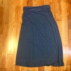 J. Crew Blue Maxi Skirt
